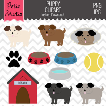 ON SALE Dog Theme Clipart // Pet Clipart - Animals100