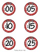 Dog Theme Clock Labels