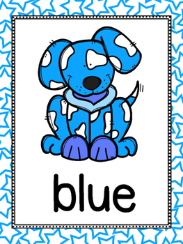 Dog Theme Color Posters And Memory Cards