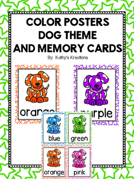 Dog Color Posters And Memory Cards