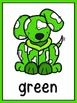 Dog Theme Color Word Posters