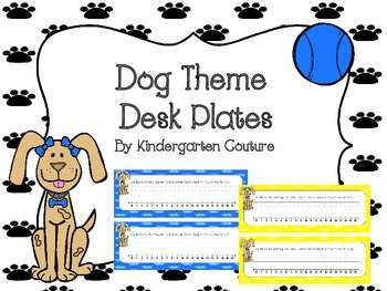 Dog Theme Desk Plates