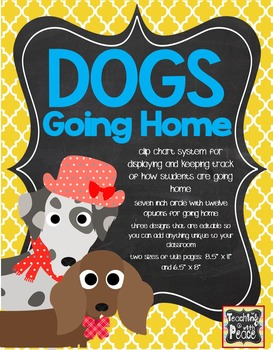 Dog Theme Going Home *clip chart system*