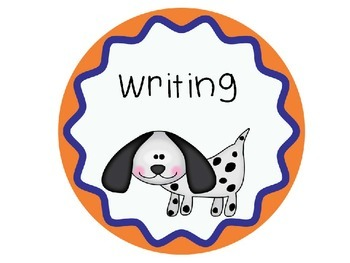Dog Theme Literacy Center Posters