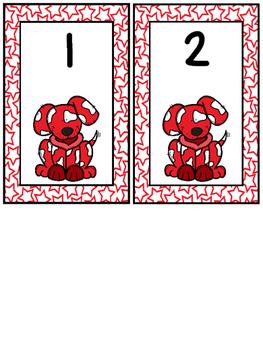 Dog Locker Numbers 1-30 FREE