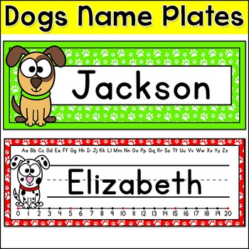 Dog Theme Name Plates
