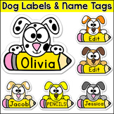 Dog Theme Name Tags - Puppy Theme Back to School Classroom Decor