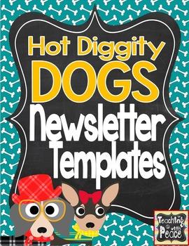 Dog Theme Newsletter Template