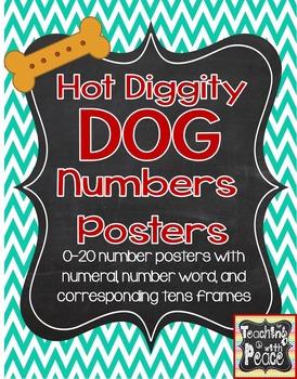 Dog Theme Numbers 0-20 Posters
