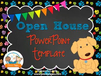 Dog Theme Open House ~ Back-to-School ~ PowerPoint Templat