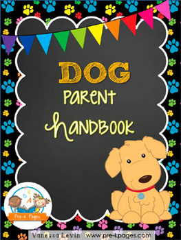 Dog Theme Parent Handbook ~ Printable ~ Back-to-School {personalize it}