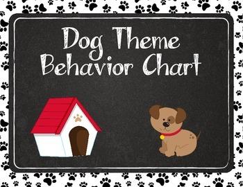 Dog Theme Paw Print Behavior Chart