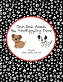 Dog Theme Paw Print Clean Desk Awards