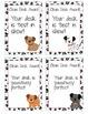 Dog Theme Paw Print Clean Desk Awards