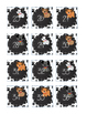 Dog Theme Paw Print Numbers 1-36 for Student Organization