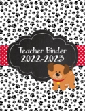 Dog Theme Paw Print Teacher Binder 2018-2019