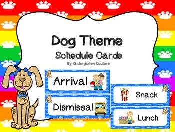 Dog Theme Schedule Cards