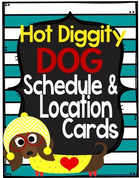 Dog Theme Schedule and Location Cards **editable**