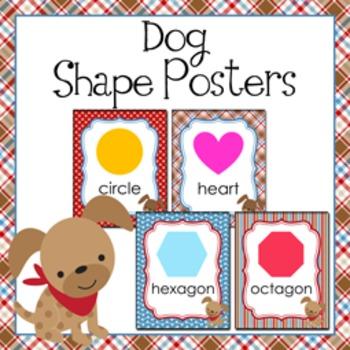 Dog Theme Shape Posters