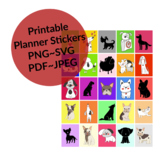 Dog Theme Stickers - Rectangle Stickers -Dog Planner Stickers