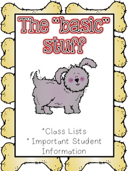 Dog Theme Substitute Binder