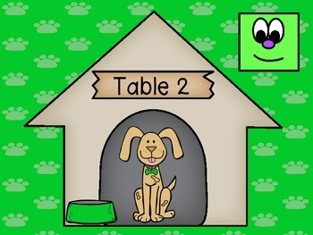 Dog Theme Table Numbers