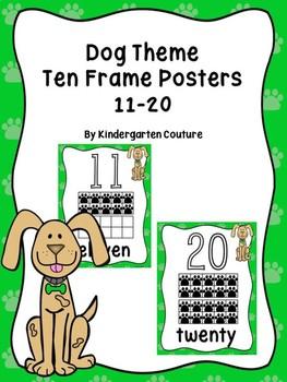 Dog Ten Frame Number Posters 11-20