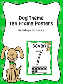 Dog Theme Ten Frame Number Posters
