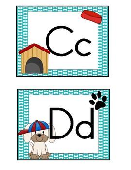 Dog Theme Word Wall Alphabet