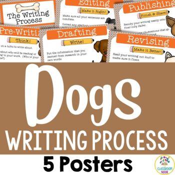 Dog Theme:  Writing Process Posters