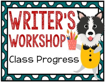 Dog Theme Writing Process Posters
