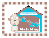 Dog Themed 0 to 20 Matching Math File Folder Game