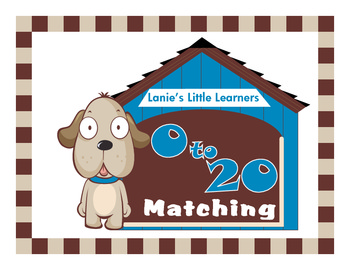 Dog Themed 0 to 20 Matching Math File Folder Game