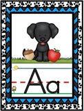 Dog Themed Alphabet Line {Classroom Decor} Black and Blue
