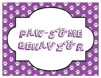 Dog Themed Behavior Chart for Classroom Management