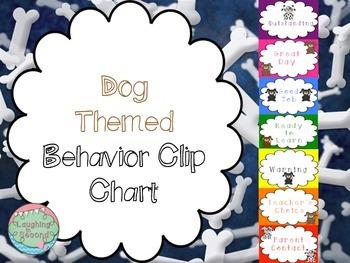 Dog Themed Behavior Clip Chart