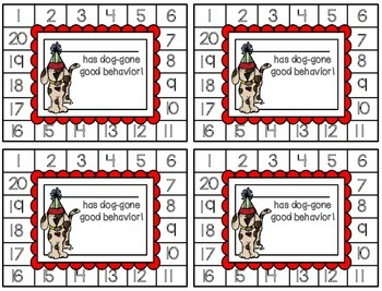 Behavior Punch Cards {Dogs}