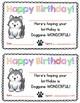 Dog-Themed Birthday Certificates