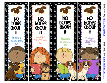 Dog Themed Bookmarks - 8 Designs