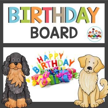 Dog Themed Class Decor Birthday Board