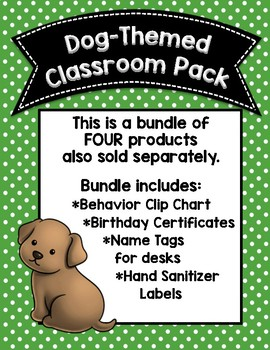 Dog-Themed Classroom Accessories Pack
