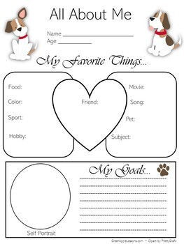 Dog Themed Classroom | All About Me Poster
