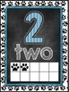 Dog Themed Classroom Decor Number Word Posters (0-10) [blu