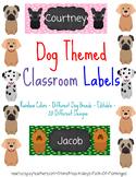 Dog Themed Classroom Labels - Books, Desk, Bins, Cubbies,
