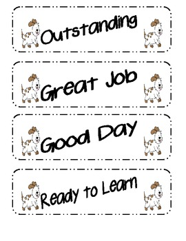 Dog Themed Clip Chart Behavior Packet