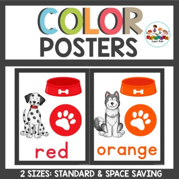 Dog Themed Color Posters in 2 sizes