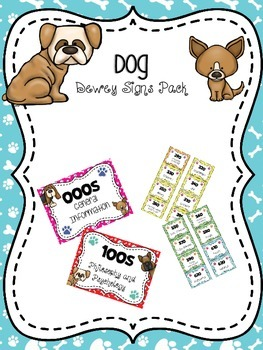 Dog Themed Dewey Signs Pack