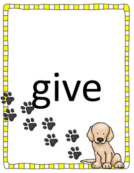 Dog - Themed Sight Words - First Grade