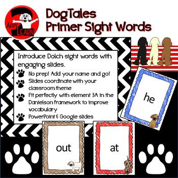 Dog - Themed Sight Words - Primer level
