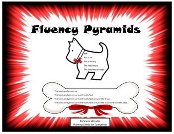 Dog Themed Fluency Pyramids